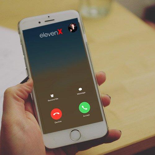 accept the call, it's elevenX marketing